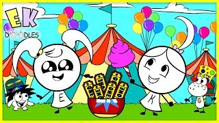 Pretend Play Carnival Games and Win Prizes with EK Doodles ! Outdoor Play