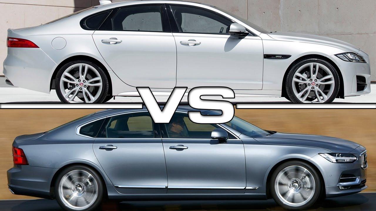 Jaguar XF vs Volvo S90 - YouTube