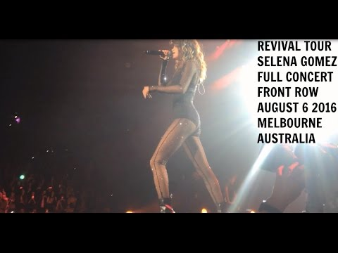 revival tour selena gomez front row full concert melbourne