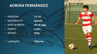 Adrian Fernandez COMMITTED- College soccer recruiting video Fall 2019