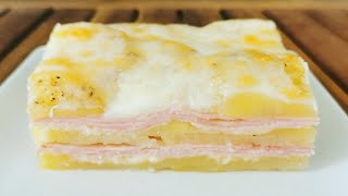 La cena se prepara en 10 minutos, pastel de patatas   Con muy pocos ingredientes