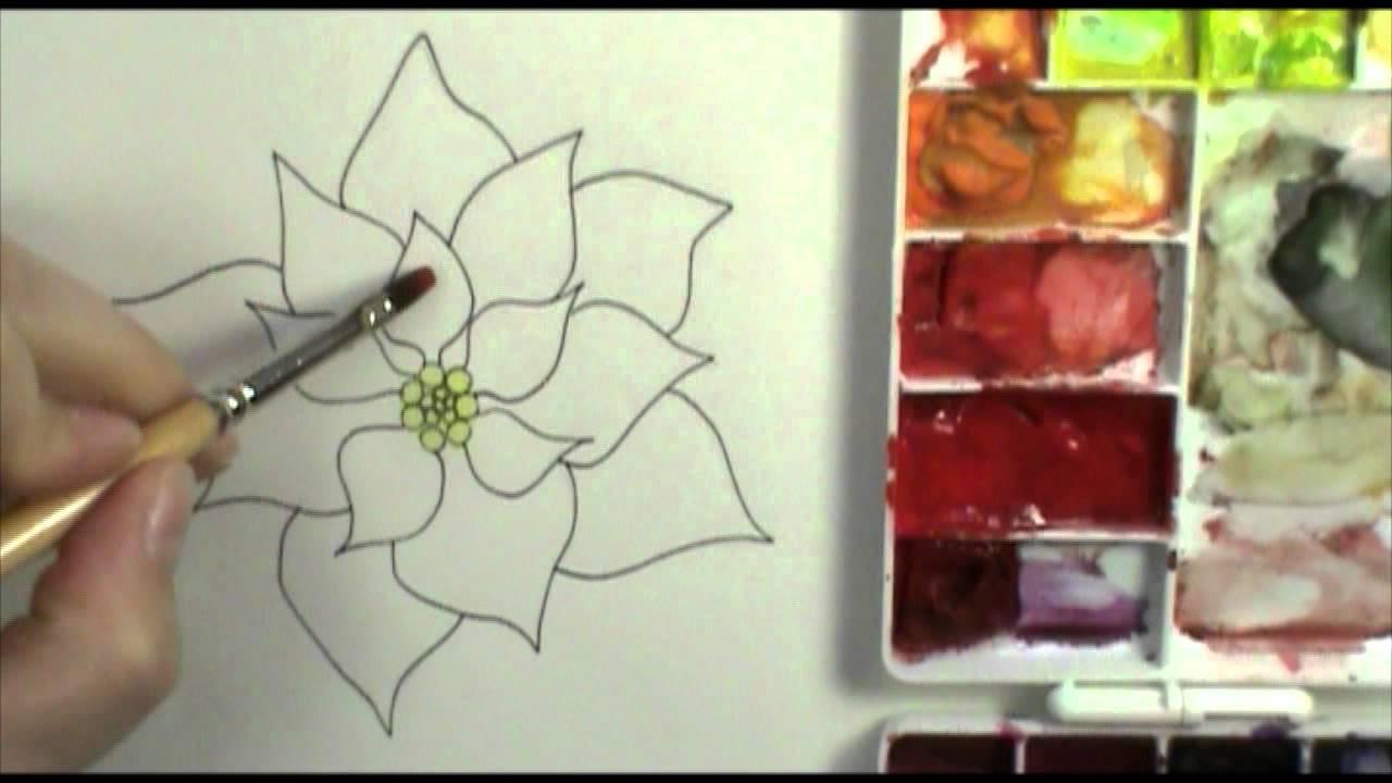 Poinsettia Drawing