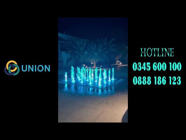 Sàn phun nước sóc trăng trình diễn Happy new year | UNION JSCO