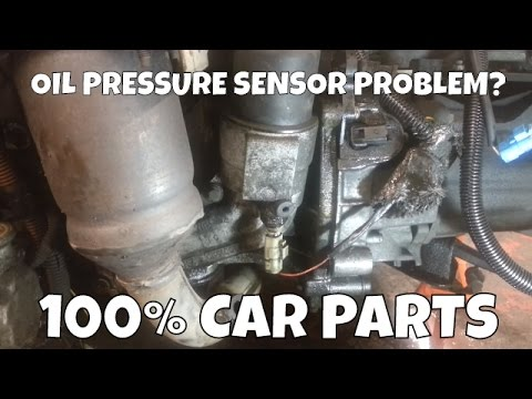 How to Change Replace Oil Pressure Sensor Peugeot 206