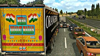 Indian trailer and Horn mod in Euro truck simulator 2(ETS2) | MercedesBenz truck with indian trailer