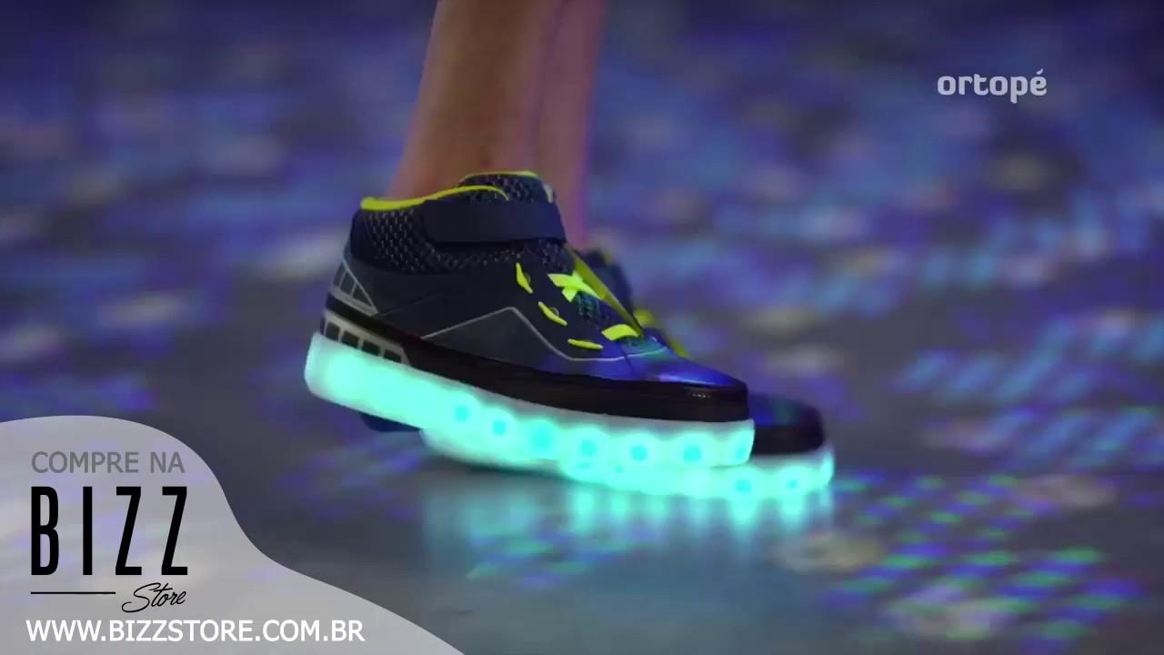 a6fb7c5d2c Bizz Store - Tênis Infantil Ortopé Zip Max LED Com Rodinhas