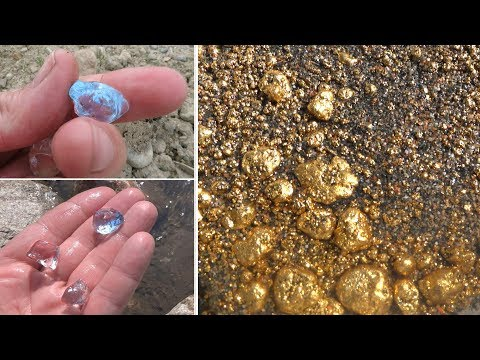 How To Find Gold With Diamonds: Blue Diamond, Shock!