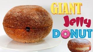 GIANT JELLY DONUT - Mega Jam Doughnut CAKE | Recipe by My Cupcake Addiction
