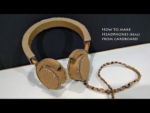 How to make Headphones from Cardboard | working headphones