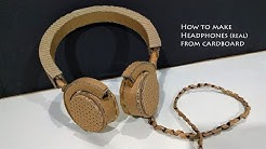 How to make Headphones from Cardboard | working headphones Diy at home