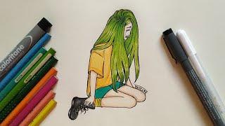 كيفية رسم فتاة حزينة | خطوة بخطوة
