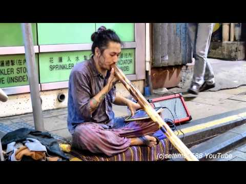 Beatboxing with a Didgeridoo ! Hong Kong Street Music