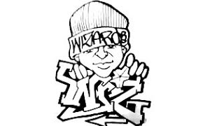 Drawing Graffiti - (WIZ) - and a Character.