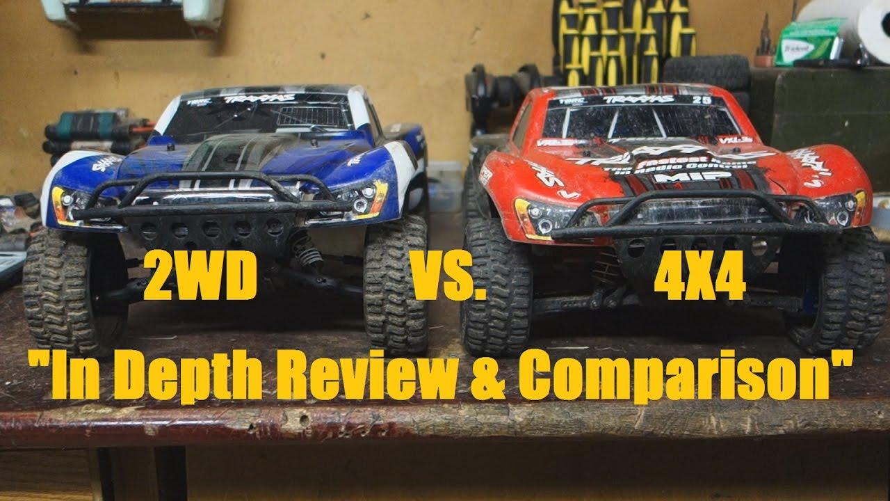 Traxxas Slash 2wd Vs 4x4 Comparison And Review Youtube