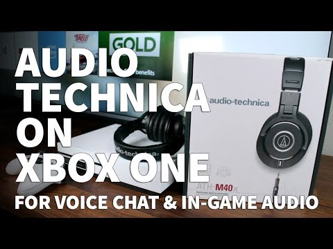 How To Use Audio Technica ATH-M40x On Xbox One – Voice Chat Microphone On M40x And M50x