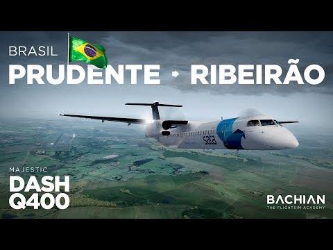 Prepar3D - Dash-8 Q400 / Presidente Prudente → Ribeirão Preto