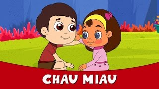 Chau Miau - Hindi Rhymes For Children | Hindi Balgeet 2016 | Hindi Kids Songs