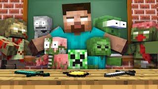 Monster School : BABY ZOMBIE APOCALYPSE CHALLENGE - Minecraft Animation