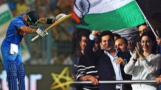 Virat Kohli bows down to Sachin Tendulkar. after smashing 50 against Pakistan