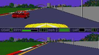Mario Andretti Racing Limesville Motor Speedway Stock Car gameplay Sega Genesis / Mega Drive