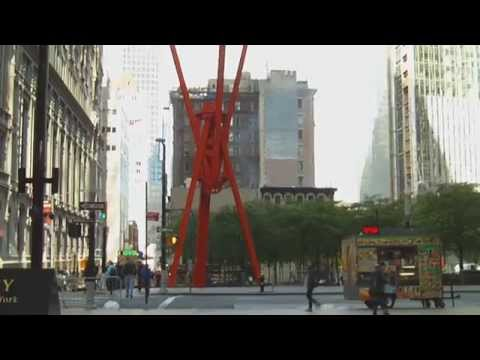 Joie de Vivre outdoor sculpture by Mark di Suvero   Zuccotti Park   New York