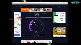 Time Warner Cable Spectrum 100Mbps Internet Speed Test