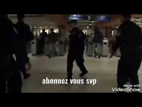 Grosse bagarre générale plusieurs mec vs police a la gare de paris