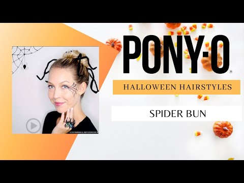 Get A Leg Up On Your Halloween Hairstyle With This Spider Bun By Pony-O Hair Accessories!