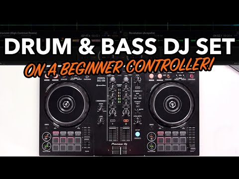 DJ drops a Drum & Bass mix on beginner Pioneer controller!