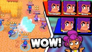 ALL SHELLY TEAM = MADDNESS! ALL SHELLY BOUNTY MATCH CRAZINESS IN BRAWL STARS!