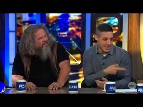 Sons Of Anarchy Theo Rossi & Mark Boone Jr. LIVE Australian Tv
