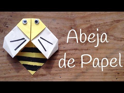 Abeja de papel fácil, un origami fácil para niños