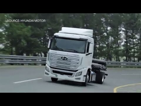 Hyundai Ships Hydrogen Fuel-Celled Trucks to Switzerland