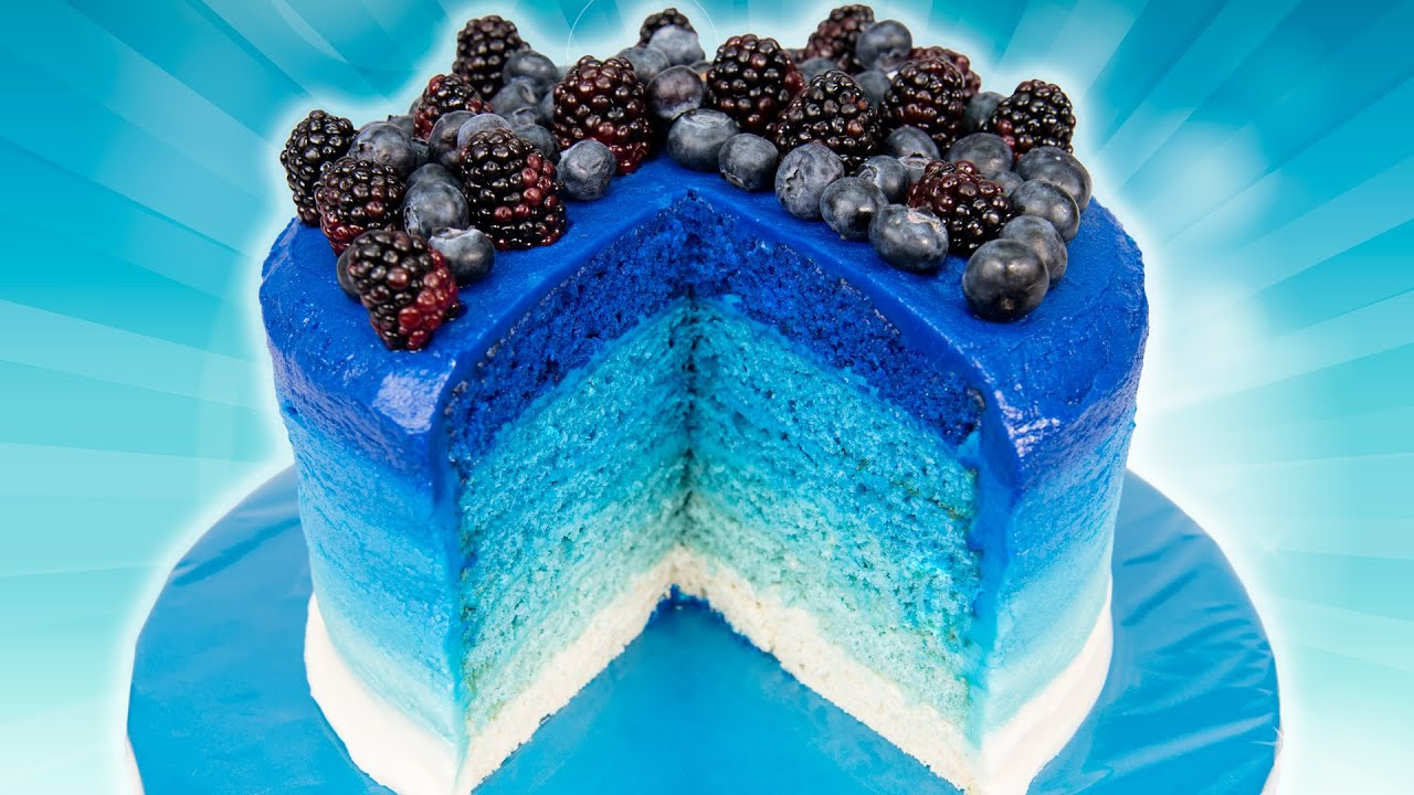 6 Layer Ombre Cake From Cookies Cupcakes And Cardio Youtube