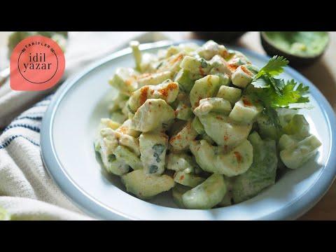 Salatalıklı Avokado Salatası Tarifi - İdil Yazar - Yemek Tarifleri