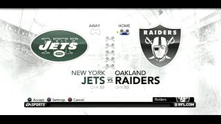 PS3 Gameplay: Madden NFL 12 (Season Week: 3) [Raiders vs Jets]