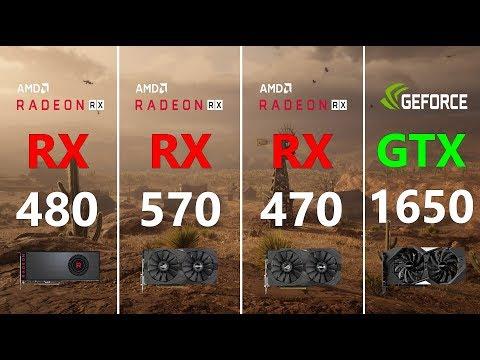 RX 480 vs RX 570 vs RX 470 vs GTX 1650 Test in 7 Games
