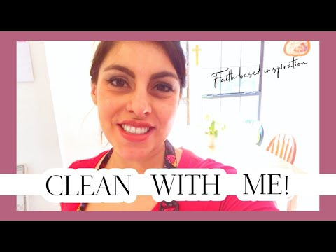 15 MIN SPEED CLEAN THE KITCHEN WITH ME | CHRISTIAN HOMEMAKING INSPIRATION & MOTIVATION