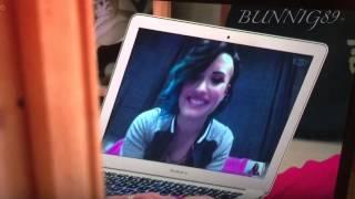 Lauren platt talking to Demi Lovato on skype