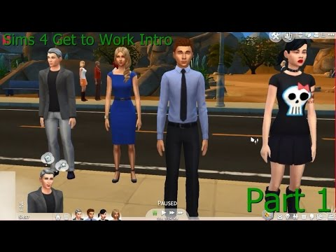 Sims 4 Get to Work Intro Part 1 Detective and Getting started!!