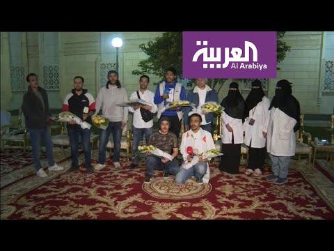 الطلاب السعوديون العائدون من ووهان يخرجون من العزل بعد 14 يوما من العزل  - نشر قبل 5 ساعة