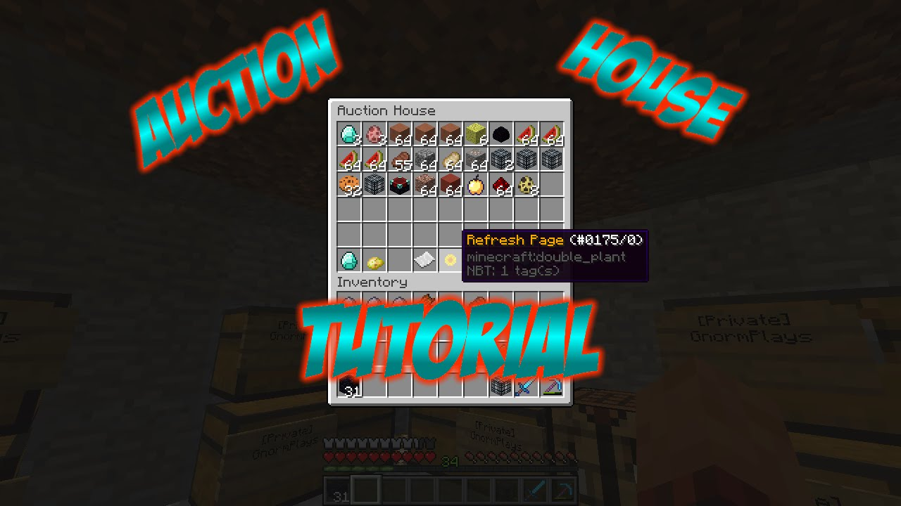 Minecraft Auction House Plugin Tutorial    How To Use