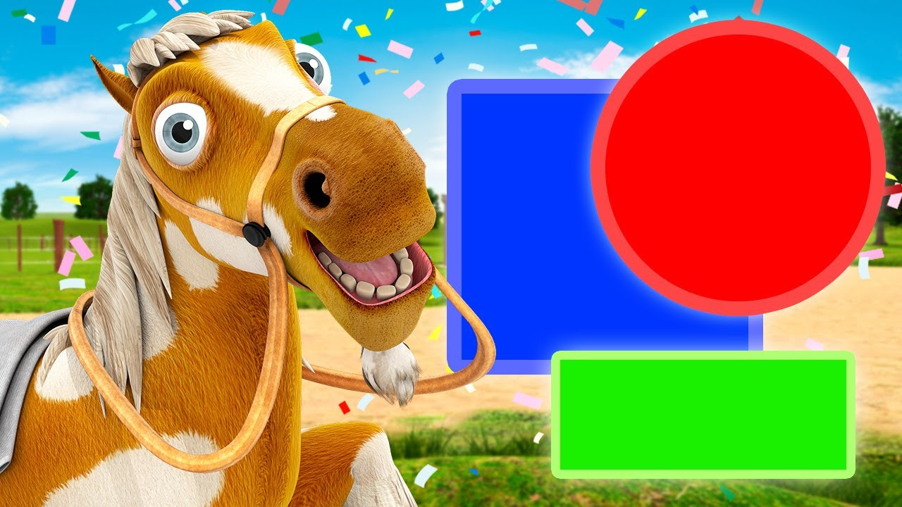 Geometric Shapes with Draft Horse - Videos for Kids