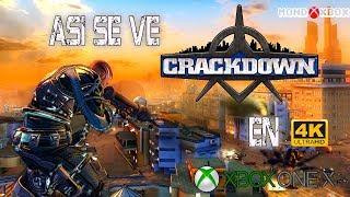 [4K] Asi se ve CrackDown de Xbox 360 a 4K en Xbox One X |MondoXbox