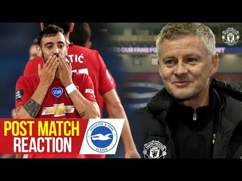 Solskjaer, Fernandes & Lindelof react to 3-0 win over Brighton | Manchester United | Premier League