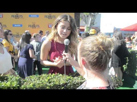 Sofia Reyes Interview at PEANUTS Movie Premiere