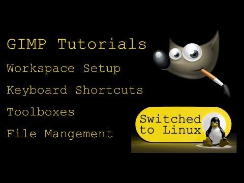 Gimp Tutorials on Linux - Part 1: Workspace Setup