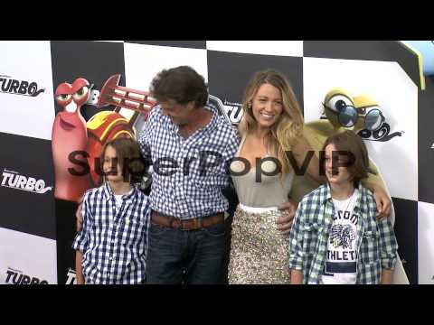 Jason Lively with sons and Blake Lively at 'Turbo' New Yo...