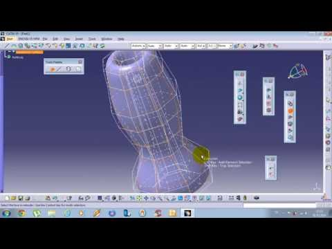 Catia imagine and shape Tutorial Net Surface,Extruded,Revolve-2 #5