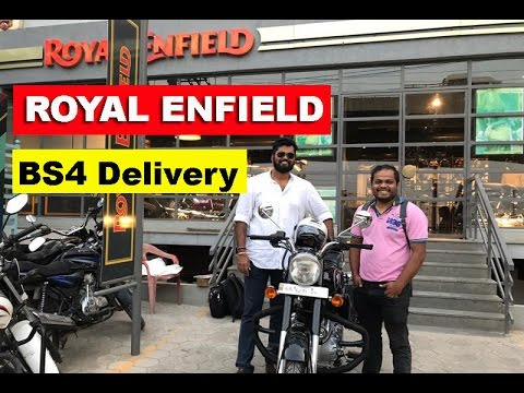 Taking Delivery of BS4 Royal Enfield Bullet 2017 - RE Showro
